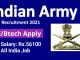 Indian Army TGC Recruitment 2021