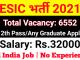 ESIC UDC Recruitment 2021